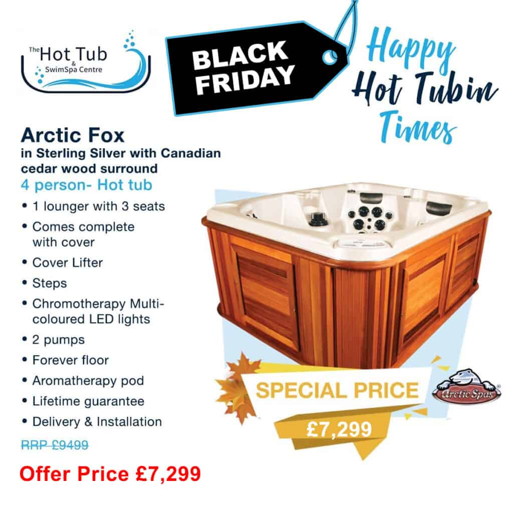 Arctic Spas, Arctic Fox 4 Person Hot Tub - Was £9,499 - Now £7,299